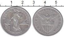 Изображение Монеты Филиппины 50 сентаво 1907 Серебро XF