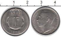 Изображение Дешевые монеты Люксембург 1 франк 1978 Медно-никель UNC-