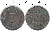 Изображение Дешевые монеты Германия 5 пфеннигов 1900 Железо VF-