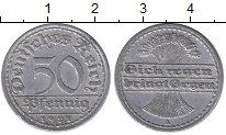 Изображение Дешевые монеты Европа Германия 50 пфеннигов 1921 Алюминий VF+