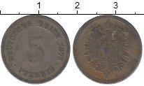 Изображение Дешевые монеты Германия 5 пфеннигов 1875 Железо VF-