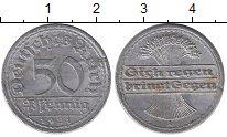 Изображение Дешевые монеты Европа Германия 50 пфеннигов 1921 Алюминий VF