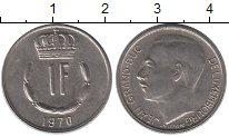 Изображение Дешевые монеты Люксембург 1 франк 1970 Медно-никель XF+