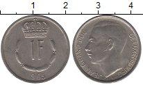 Изображение Дешевые монеты Люксембург 1 франк 1965 Медно-никель VF