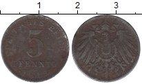 Изображение Дешевые монеты Европа Германия 5 пфеннигов 1918 Железо VF-