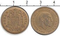 Изображение Дешевые монеты Испания 1 песета 1966 Латунь XF-