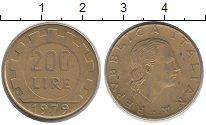 Изображение Дешевые монеты Италия 200 лир 1979 Латунь VF