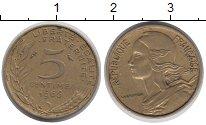 Изображение Дешевые монеты Франция 5 сентим 1966 Латунь XF-