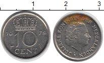Изображение Дешевые монеты Нидерланды 10 центов 1978 Медно-никель VF-