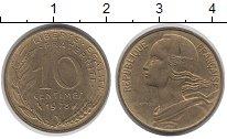 Изображение Дешевые монеты Европа Франция 10 сентим 1978 Латунь VF+