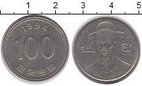 Изображение Дешевые монеты Южная Корея 100 вон 1994 Медно-никель XF