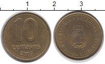 Изображение Дешевые монеты Аргентина 10 сентаво 2009 Латунь XF