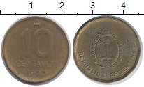 Изображение Дешевые монеты Южная Америка Аргентина 10 сентаво 1988 Латунь VG