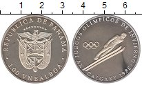 Изображение Монеты Панама 1 бальбоа 1988 Серебро Proof- Олимпиада 88. Калгар