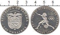 Изображение Монеты Северная Америка Панама 1 бальбоа 1988 Серебро Proof-