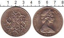 Изображение Монеты Новая Зеландия 1 доллар 1974 Медно-никель XF+