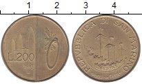 Изображение Монеты Европа Сан-Марино 200 лир 1993 Латунь VF