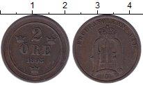 Изображение Монеты Европа Швеция 2 эре 1893 Бронза XF