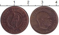 Изображение Монеты Сьерра-Леоне 1/2 цента 1964 Бронза XF