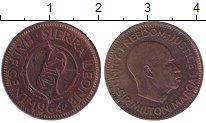 Изображение Монеты Африка Сьерра-Леоне 1/2 цента 1964 Бронза XF