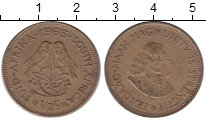 Изображение Монеты Африка ЮАР 1/2 цента 1963 Латунь XF