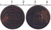 Изображение Монеты Европа Швеция 2 эре 1881 Бронза VF