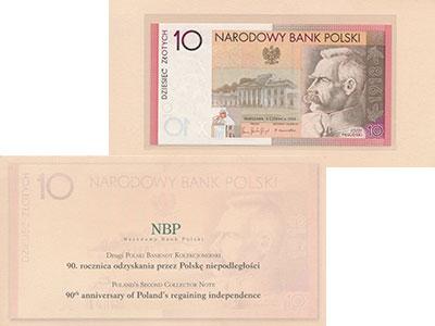 Изображение Банкноты Польша 10 злотых 2004  UNC-