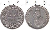 Изображение Монеты Европа Швейцария 2 франка 1921 Серебро XF-