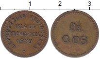 Изображение Монеты Венесуэла 5 сентаво 1939 Латунь XF Лепрозорий.Остров Пр