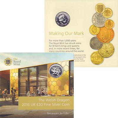 Изображение Подарочные монеты Европа Великобритания Дракон Уэльса 2016 Серебро Proof