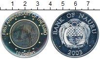 Изображение Монеты Австралия и Океания Науру 10 долларов 2003 Серебро Proof-