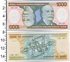 Изображение Банкноты Бразилия 1000 крузейро 1987  UNC-
