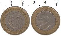 Изображение Дешевые монеты Турция 1 лира 2010 Биметалл VF