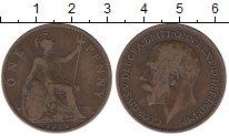 Изображение Дешевые монеты Великобритания 1 пенни 1919 Медь VF