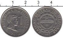 Изображение Дешевые монеты Филиппины 1 писо 2010 Медно-никель XF