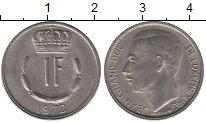 Изображение Дешевые монеты Люксембург 1 франк 1972 Медно-никель XF+