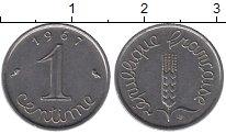 Изображение Дешевые монеты Европа Франция 1 сентим 1967 Сталь XF