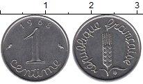Изображение Дешевые монеты Европа Франция 1 сентим 1968 Сталь XF