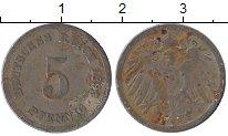 Изображение Дешевые монеты Германия 5 пфеннигов 1893 Медно-никель VF-
