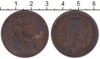 Изображение Дешевые монеты Европа Великобритания 1 пенни 1921 Медь VF