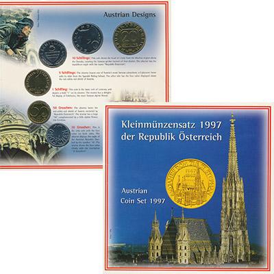 Изображение Подарочные монеты Австрия Набор 1997 года 1997  UNC