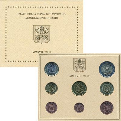 Изображение Подарочные монеты Европа Ватикан Набор 2017 года 2017  UNC