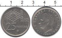 Изображение Дешевые монеты Испания 25 песет 1981 Медно-никель XF