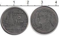 Изображение Дешевые монеты Азия Таиланд 1 бат 2010 Медно-никель XF