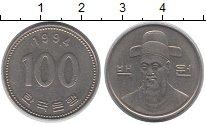Изображение Дешевые монеты Азия Южная Корея 100 вон 1994 Медно-никель XF