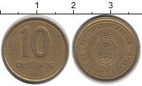 Изображение Дешевые монеты Южная Америка Аргентина 10 сентаво 1993 Медно-никель XF