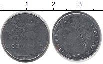 Изображение Дешевые монеты Италия 100 лир 1991 нержавеющая сталь XF