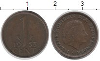 Изображение Дешевые монеты Нидерланды 1 цент 1955 Медь XF