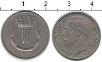 Изображение Дешевые монеты Люксембург 1 франк 1973 Медно-никель XF-
