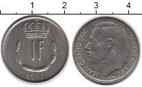 Изображение Дешевые монеты Люксембург 1 франк 1981 Медно-никель XF-